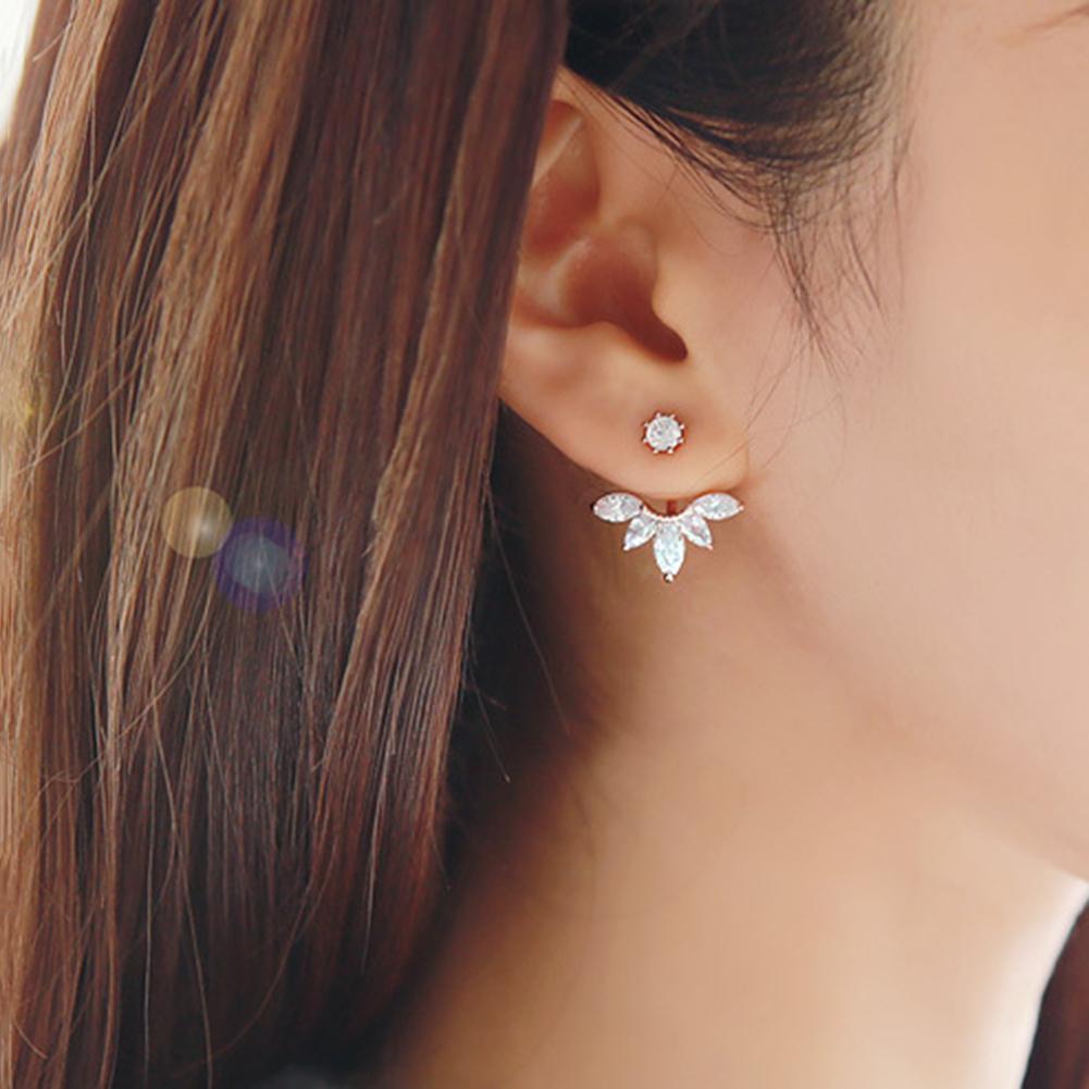 Pendientes de moda para mujer, pendientes brillantes, con incrustaciones de diamantes de imitación, pendientes, pendientes, accesorios para mujer