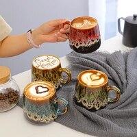 ceramic mug coffee milk drink water cup creative large capacity water cup home office couple coffee cup gift coffee mug handgrip