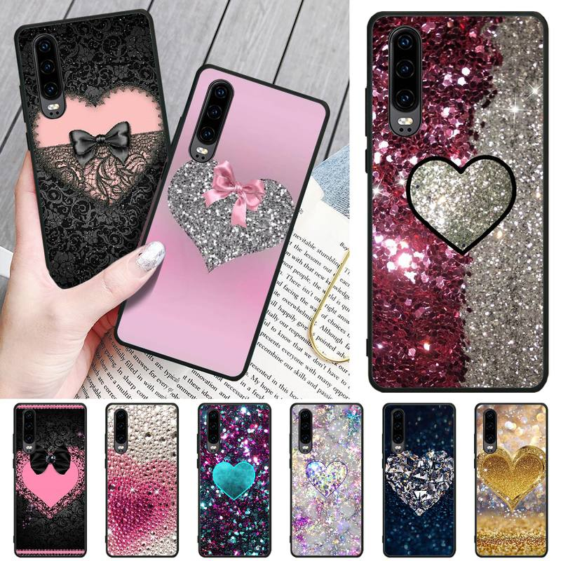 Viviana Fashion bling love TPU Soft Silicone Phone Case Cover For Huawei P8 lite 2017 P9 P10 20Pro Lite Pro P30lite P Smart 2019