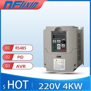 220V Single Phase Variable Frequency Driver, Universal VFD Speed Controller for 3-Phase 4KW AC Motor