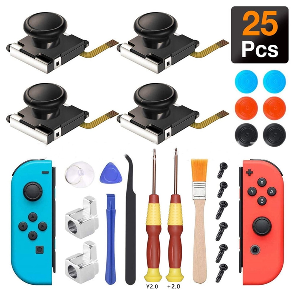 Veanic 4-Pack 3D Replacement Joystick Analog Thumb Stick for Switch Joy-Con Controller for Nintendo Switch Game accessories