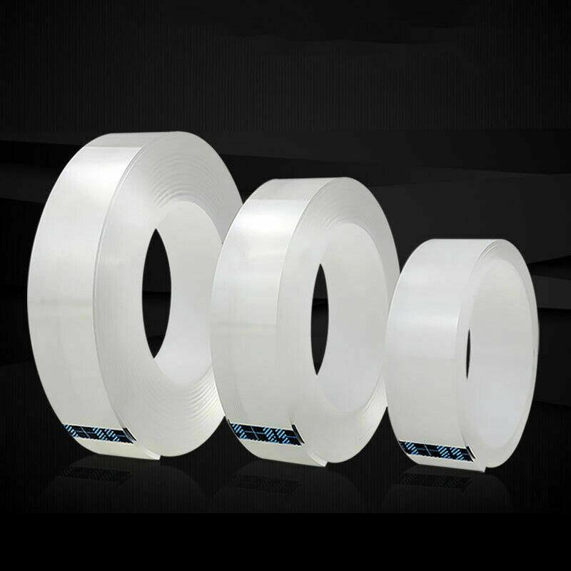 2020 Cinta de agarre mágica funcional de doble cara sin marcas lavable reutilizar cinta adhesiva impermeable Gel Nano cinta Invisible adhesiva