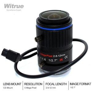 5 линза CCTV 5,0 мегапикселей 2,8-12 мм Φ F1.6 CS Mount 1/2.7 DC Auto Iris для камеры видеонаблюдения IP Scurity
