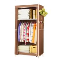 Simple Wardrobe Student Dormitory Single Wardrobe Storage Cabinet Finishing Locker Steel Tube Wardrobe