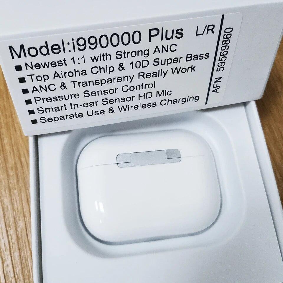 I990000 Plus TWS 40DB ANC سماعات Airoha 1562A رقاقة إلغاء ضوضاء فعال 10D سوبر باس ضوء الاستشعار Pk i9000 i99999 TWS