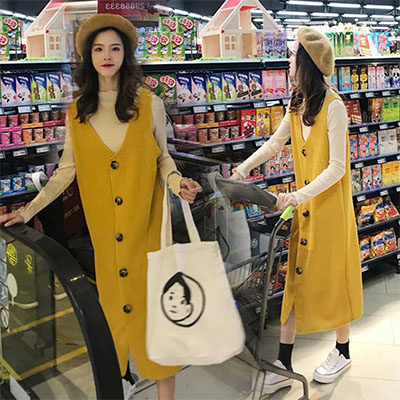 Fashion Maternity Sets 2021 Spring Autumn Pregnancy Clothes Lace Top+loose Strap Dress 2Pcs Clothes for Pregnant Women enlarge