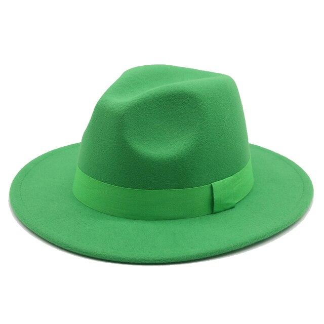 Шляпа Федора для женщин и мужчин с ленточным ремешком и широкими полями, Классическая бежевая и белая фетровая шляпа, британская элегантная Вуалетка, Мужская зимняя женская шляпа|Аксессуары для одежды|| | АлиЭкспресс
