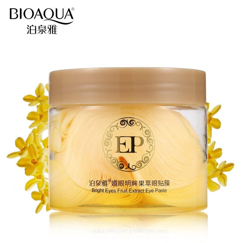 BIOAQUA 60PCS Eye Mask Lemon Essence Fruit Extract Moisturizing Lift Firming Anti-Aging Anti-Puffine