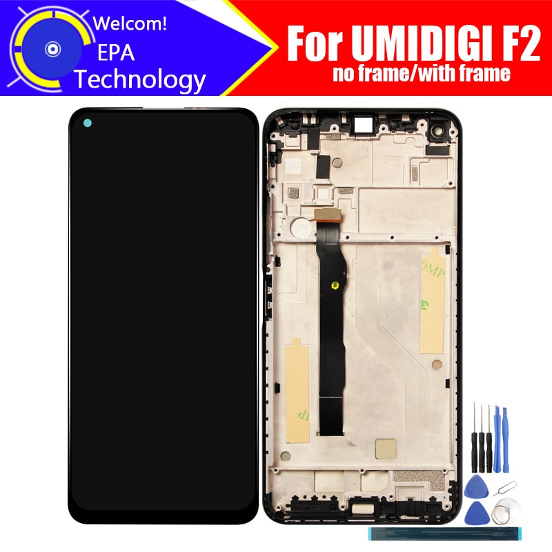 UMIDIGI F2 LCD Display+Touch Screen Digitizer 100% Original Tested LCD Screen Glass Panel  For UMIDIGI F2+tools+ Adhesive