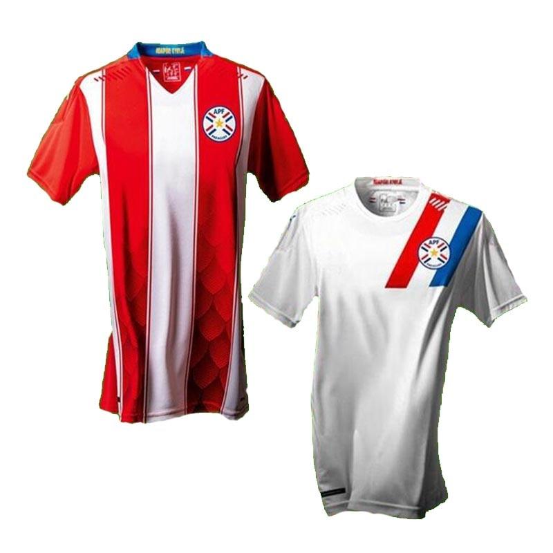 Paraguay Camiseta De Fútbol 2020, 2021 Nuevo Hogar Camiseta De Fútbol APF...