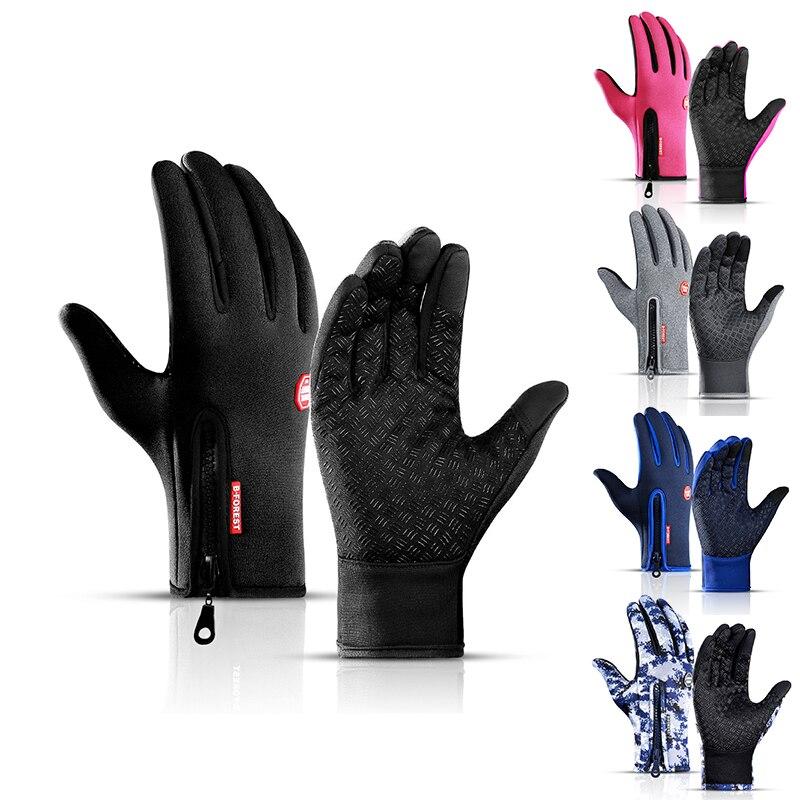 Горячая Распродажа, мужские зимние перчатки, оригинальные водонепроницаемые теплые холодные перчатки, модные ветрозащитные велосипедные ...