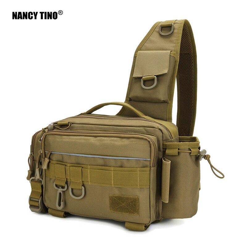 NANCY TINO Fishing Bag Multifunctional Tackle Bags Single Shoulder Crossbody Bag Waist Pack Fish Lures Gear Utility Storage 1Pcs