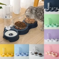 new pet cat bowl double bowl drinking raised stand dish bowls for cats pet bowls automatic feeders for cats cat dogs accessories