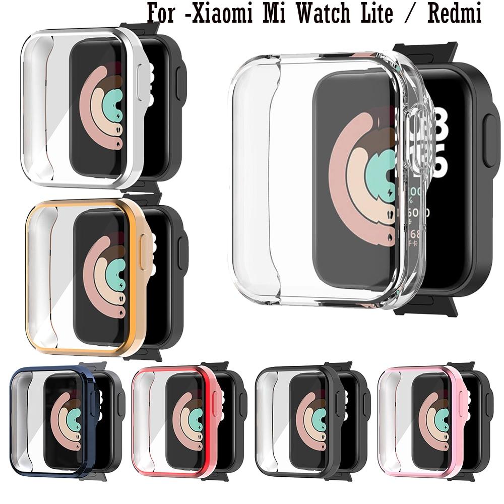 Полный-защитный-чехол-для-xiaomi-mi-watch-lite-redmi-smartwatch-аксессуары-рамка-Чехлы-360-ТПУ-защитный-экран