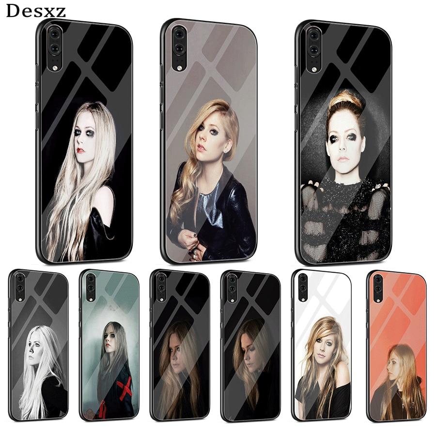 Funda de vidrio para teléfono móvil para Huawei P30 P20 P10 Mate 20 Pro Lite Y6 Y9 7A honor 8X9 10 P Smart Ramona Avril Lavigne genial