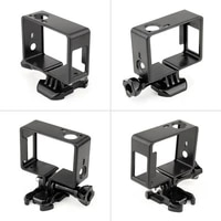 For GoPro Hero 4 3   3 Border Protection Camera Page Case Housing For Go Pro Hero4 3  3 Action Camera Accessories