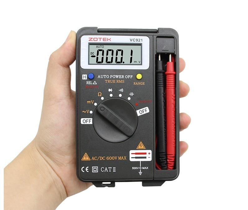 Digital Multimeter ZOYI VC921 3 3/4 Personal Mini Digital Multimeter Handheld Pocket capacitance resistance frequency tester