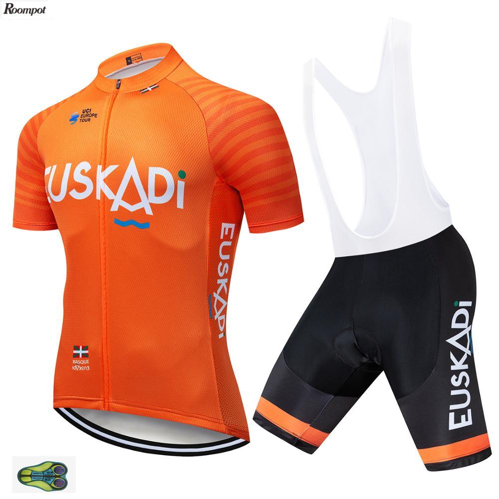 2020 equipe etxeondo pro camisa de ciclismo bibs shorts terno 20d gel ropa ciclismo dos homens verão secagem rápida maillot wear
