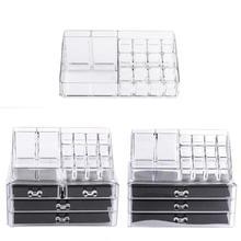 Portable Clear Acrylic Makeup Organizer Storage Box Cosmetics Storage Case