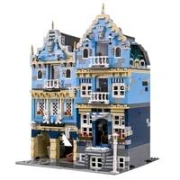 3016 pcs street view house toys model assembly bricks building blocks city market with led lights kids gifts