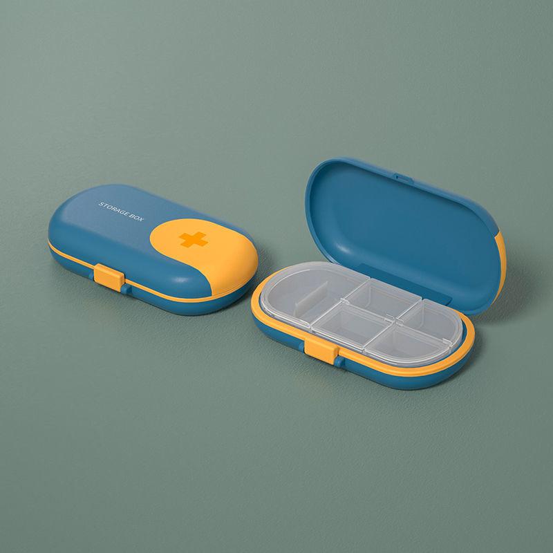 New Travel Convenient Medicine Pill Box Weekly 4 Grids Pills Dispenser Pill Organizer Tablet Pillbox Case Container Drug Divider