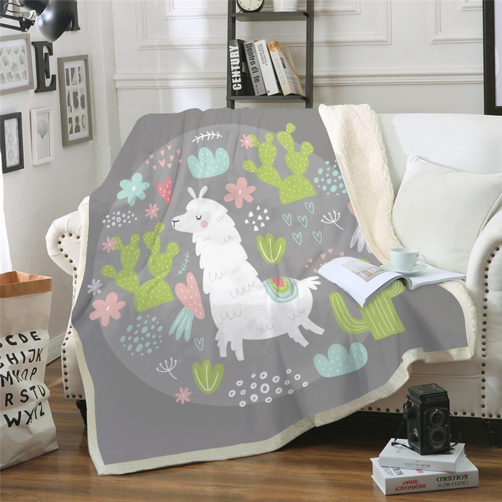 الكرتون رمي بطانية سلسلة الألبكة غطاء مكيف الهواء بطانية ستوكات على أريكة/سرير/طائرة السفر الفراش دروبشيبينغ