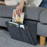 new bedside felt storage bag bed sofa side pouch hanging organizer with 2 small pockets for organizing magazine cellphone