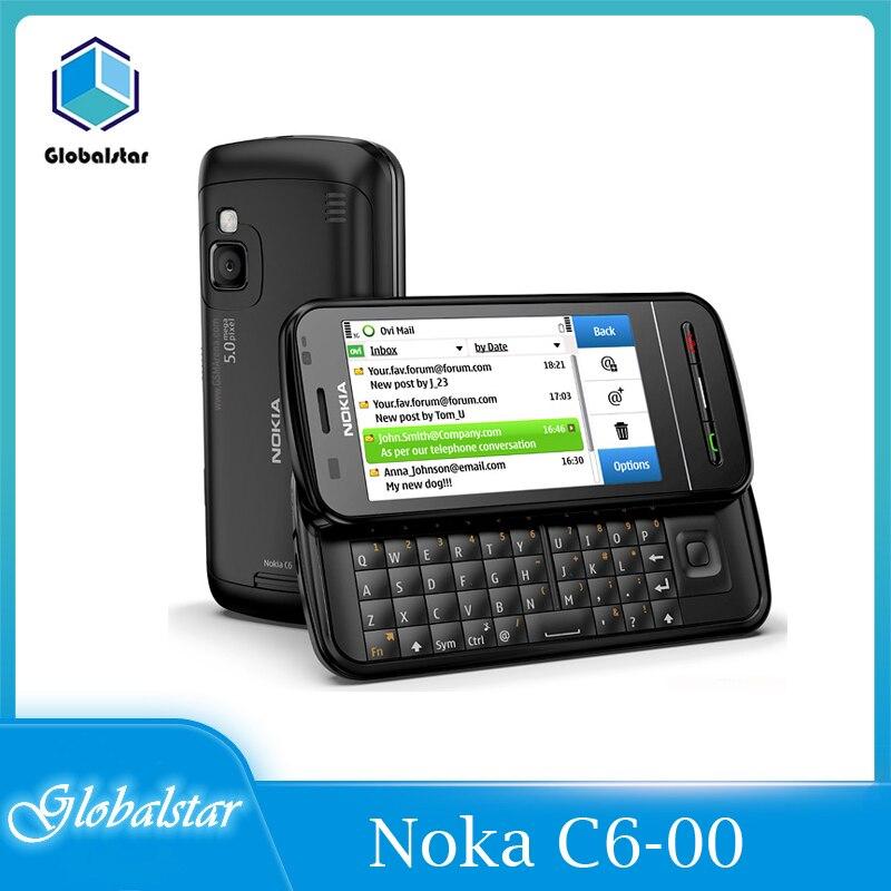 Nokia C6-00 Восстановленное перепрошитый Nokia C6-00 оригинальный 3,2 'мобильный телефон GSM 3G, Wi-Fi, GPS, Bluetooth, 8MP телефон гарантия 1 год бесплатная доставка