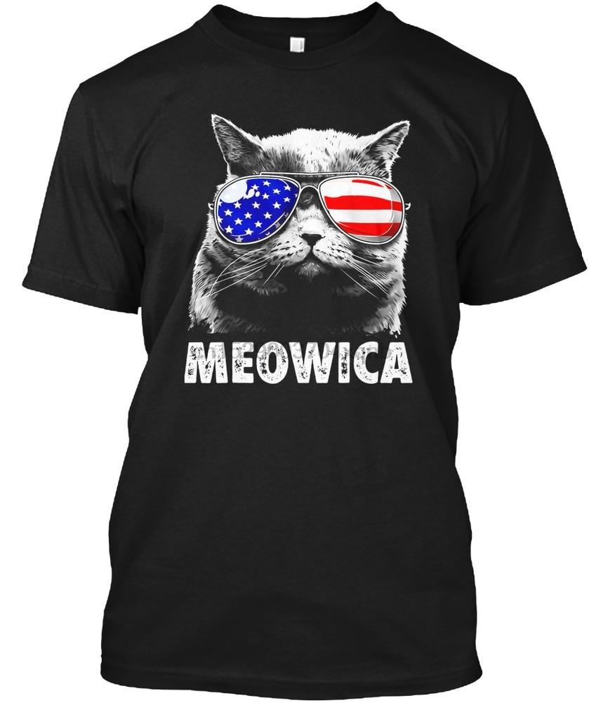 Camiseta de hombre gato camisas del 4 de Julio Meowica América Me(1) camiseta de mujer