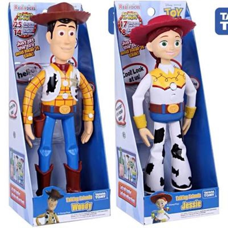 NEW Toy Story 4 Talking Woody Buzz Jessie Action Figures Anime Decoration Collection Figurine toy model for children gift