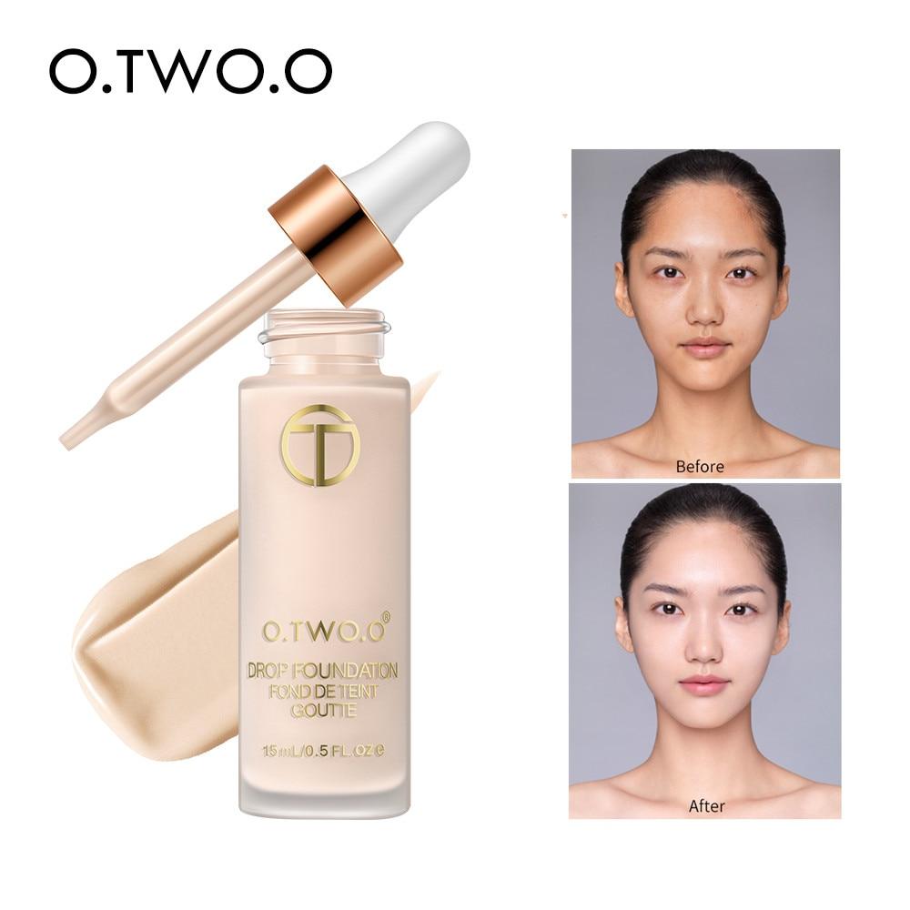 O.TW O.O fond de teint liquide lisse fond de teint humide sans huile couverture complète correcteur fond de teint liquide durable cosmétiques