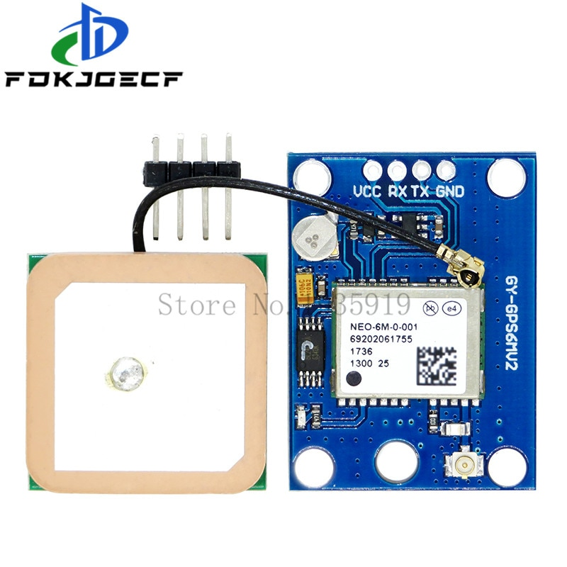 GY-NEO6MV2 new NEO-6M GPS Module 3V-5V NEO6MV2 with Flight Control EEPROM MWC APM2.5 large antenna for arduino
