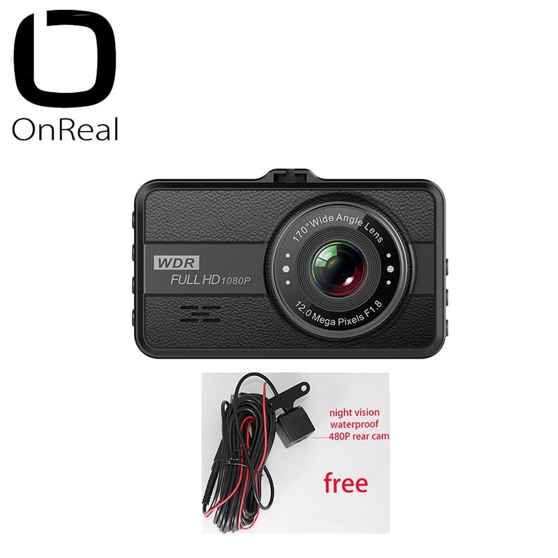 Cámara de salpicadero 1080P OnReal Q10 3,0 pulgadas pantalla IPS 1080P 30FPS 200mAh batería coche DVR mini cámara de coche 1080P grabadora de vídeo de coche