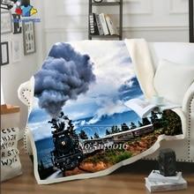 SONSPEE 3D Print Harajuku Zug Dampf motor Dünne Quilt Bett Decke Bettdecke Stuhl Bettwäsche Hause Plüsch-werfen Weiche Quilt b48