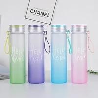 hot sports water bottle 460ml protein shaker outdoor travel portable leak proof drinkware plastic my drink bottle bpa free