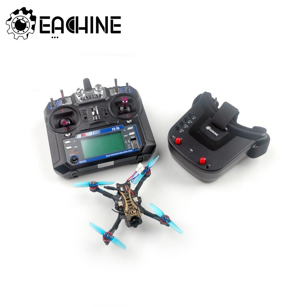 Eachine V2.0 مبتدئ-II 1-2S 2.5 بوصة مسواك FPV سباق Drone RTF Flysky FS-I6 2.4G الارسال مع 5.8Ghz 40CH VR009 نظارات