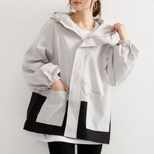 Autumn Winter Clothing Jacket Women Zipper Hooded Patchwork Coat New Korean Wool Outwear Female Loos
