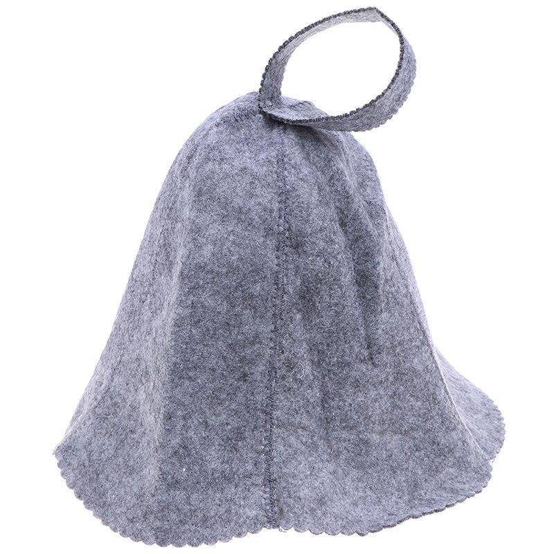 Gorro de baño con protección para la cabeza de fieltro, tamaño libre de calor, estilo Ruso, gorro de ducha, gorro de Sauna