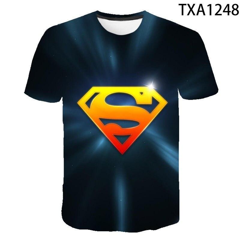 NEW 3D  Batman superhero America captain   Men and women T-shirt summer Superman children  Comfortable and quick drying T-shirt