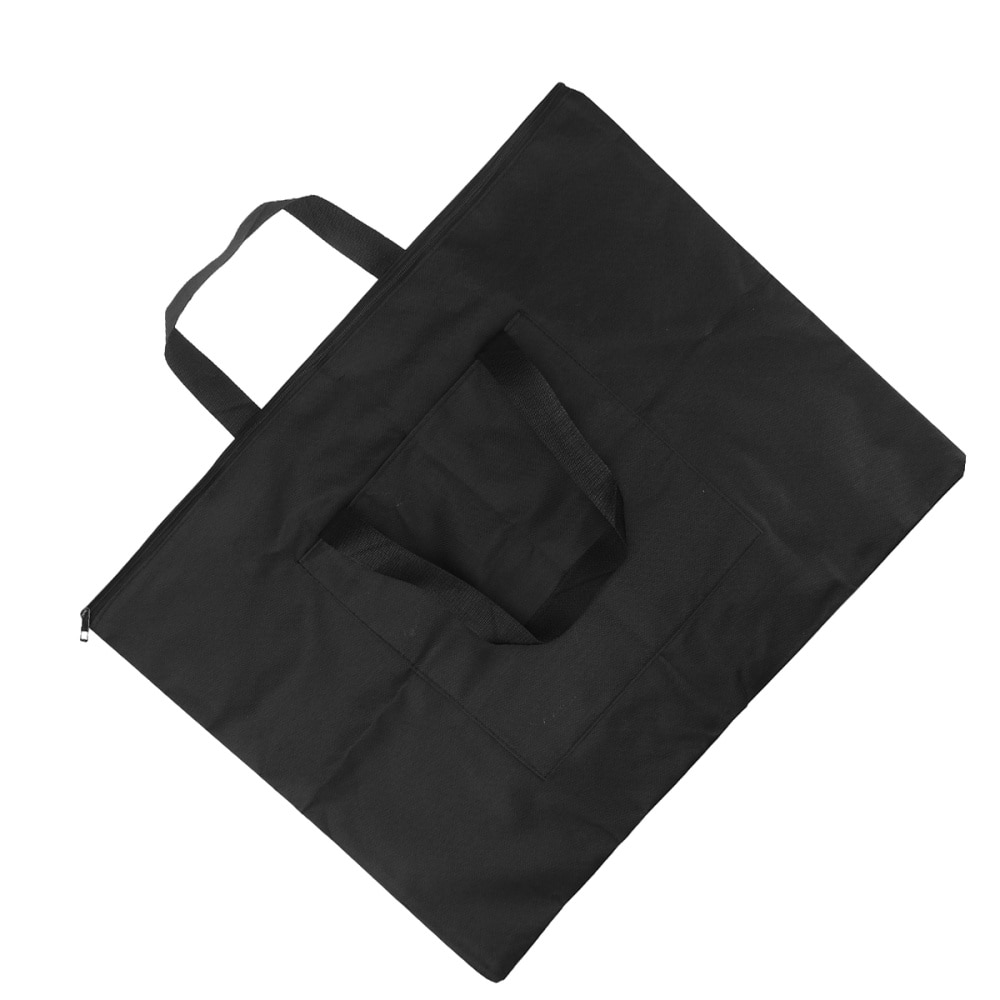 Drawing Painting Board Storage File Bag Document Carry Case Waterproof Drawing Board Canvas Case (Black)
