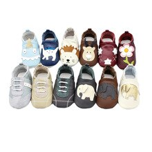 Cartoon animal toddler shoes Genuine Leather infant boy girls soft shoes Baby moccasins Brand Baby s