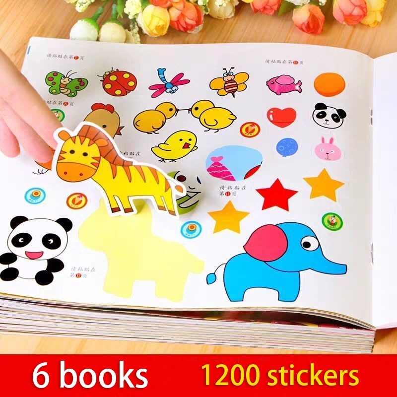Books Stickers 0-6 Years Old Children's Early Education Sticker Book Children Puzzle Enlightenment Clipart Baby Comic New Livres