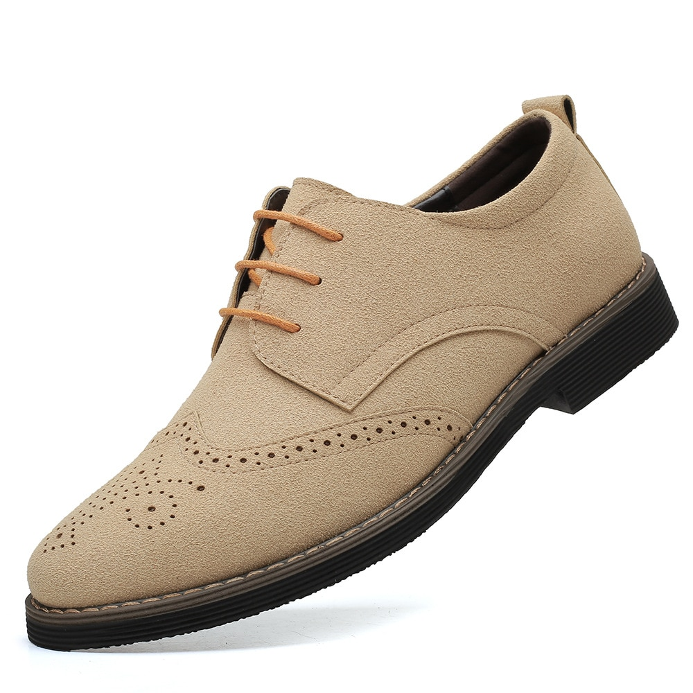 Мужские замшевые классические броги, Формальные туфли, мужские классические туфли, мужские свадебные офисные деловые туфли, новинка 2021
