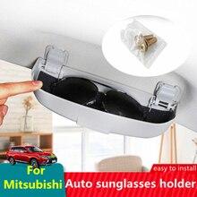 Auto Styling Zonnebril Houder Brillen Opbergdoos Case Voor Mitsubishi Asx Lancer 10 9 Outlander Pajero