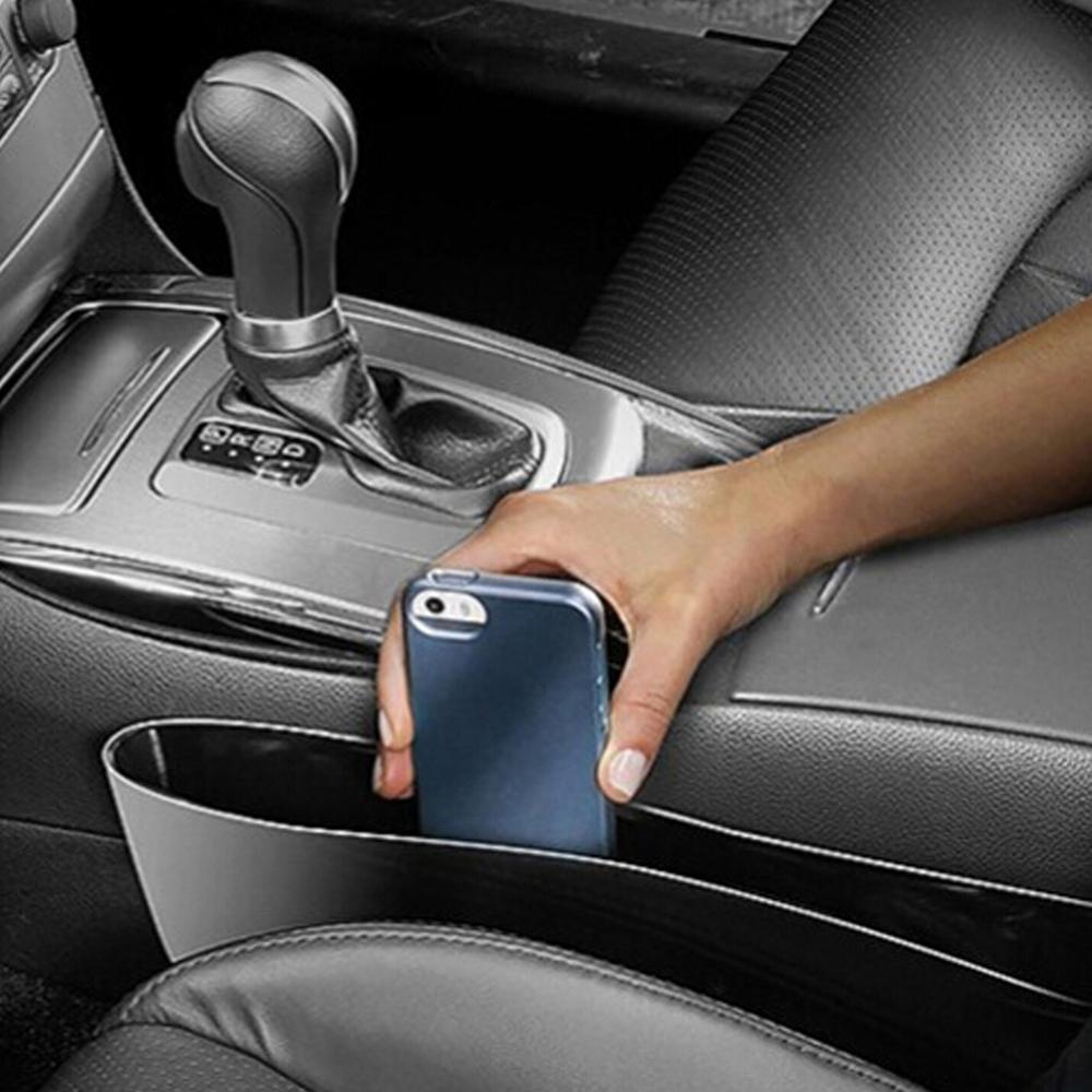 Multi-function Car Seat Gap Anti-leakage Sundries Box Car Mobile Trash Bin Car Gap Storage Box Ar Seat Gap Organizer With Holder