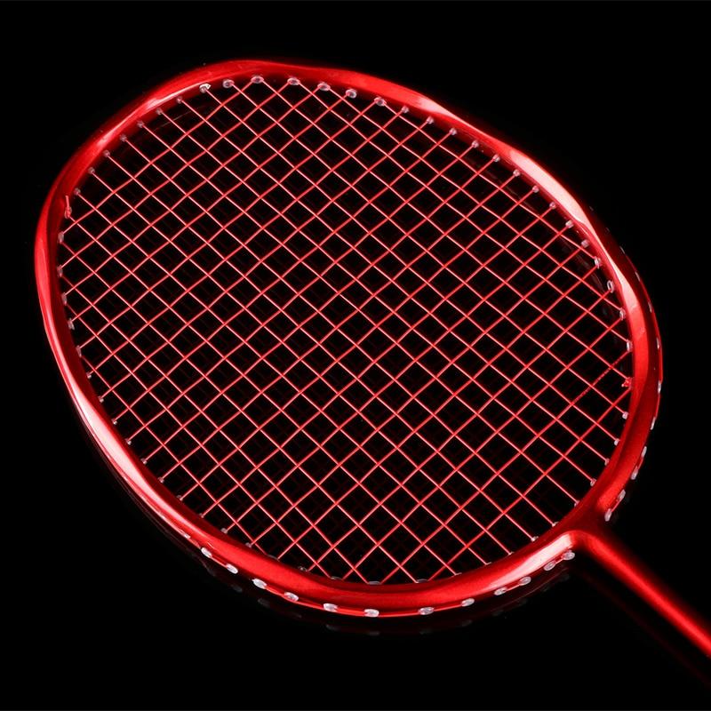 New Powerful Mini ball face badminton racket strong 28Lbs ultra light 4U   badminton Full carbon rackets racquet Primary amateur