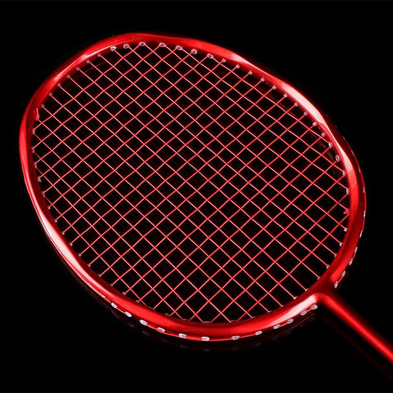 Ultralight 8U 64g nawleczone paletka do badmintona profesjonalne węgla rakieta do badmintona z włókna węglowego uchwyty i opasek na rękę