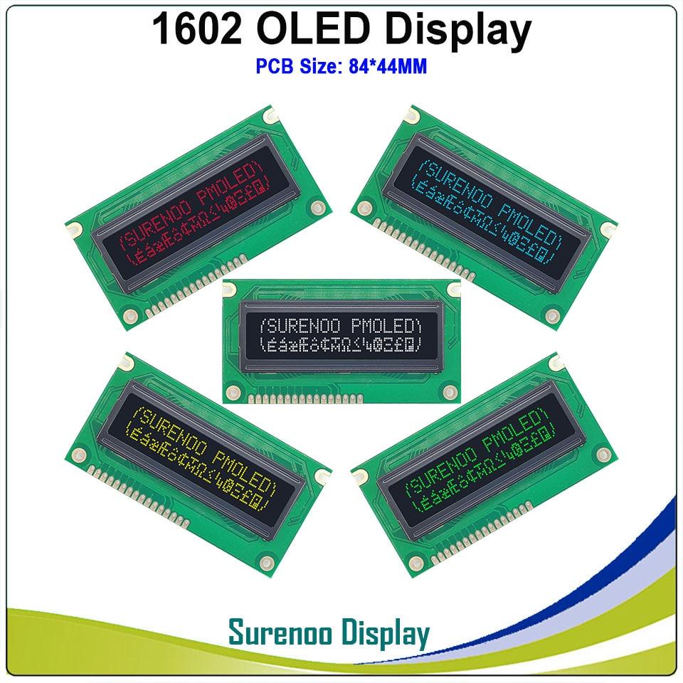 شاشة OLED أصلية ، 84*44 مللي متر ، PCB ، متوافقة مع 1602 ، 162 ، 16*2 ، شاشة LCM مدمجة ، WS0010