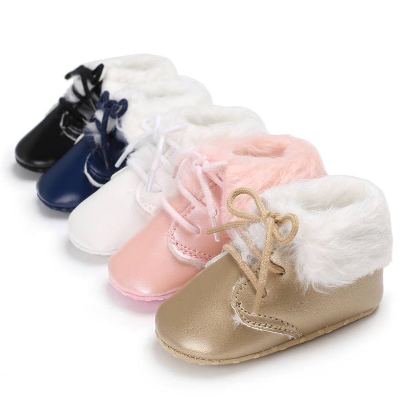 sweet pu baby girl shoes toddler infant anti slip polka dot pu first walkers shoes kids footwear shoes girls Newborn Baby Shoes Toddler PU Soft Sole Anti-slip Warm  First Walkers Infant Baby Crib Shoes