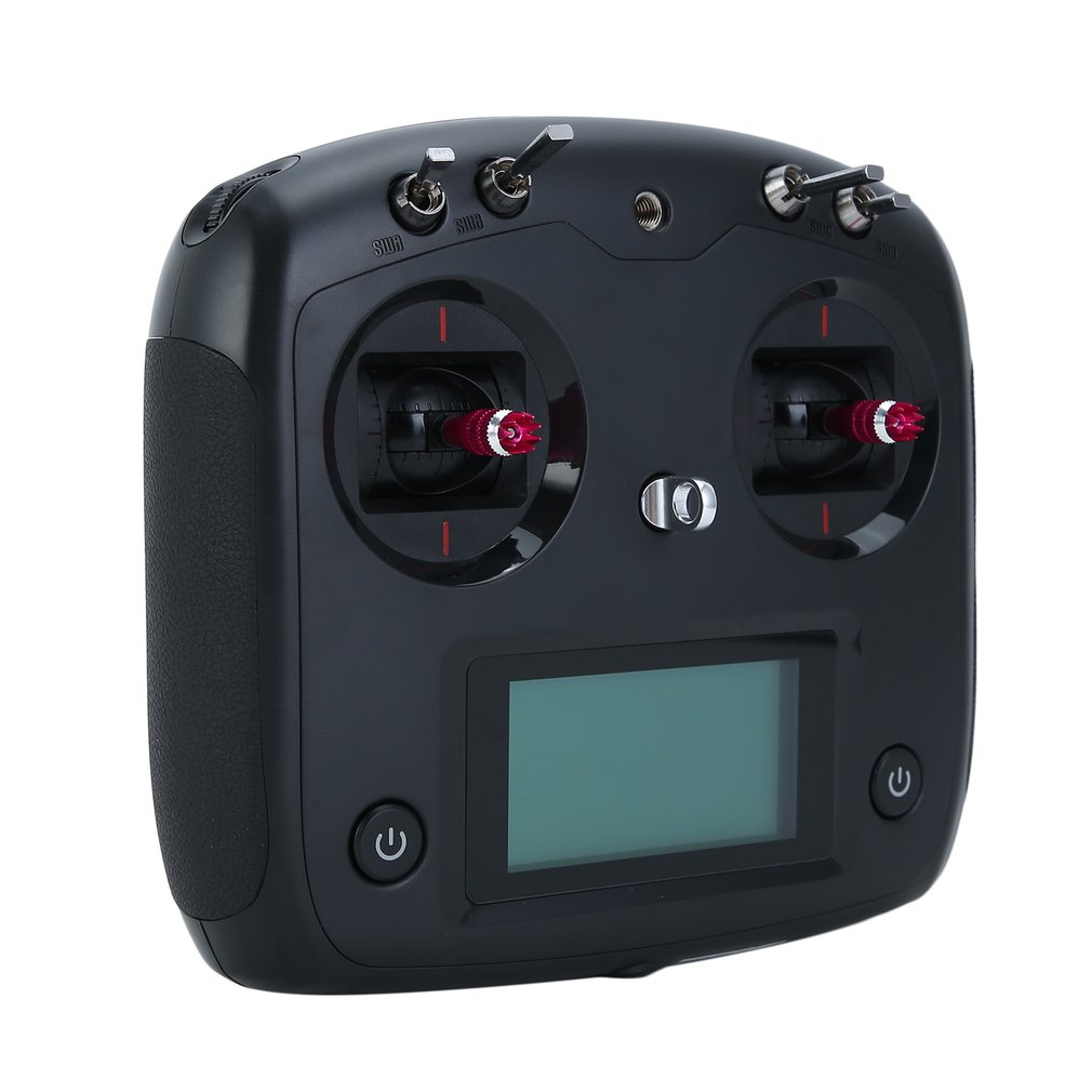 المهنية خفيفة الوزن متعددة القنوات FS-i6S 2.4G 10CH AFHDS 2A الارسال مع جهاز استقبال FS-iA10B الأسود